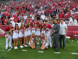 Trophy and Cheerleading Team
