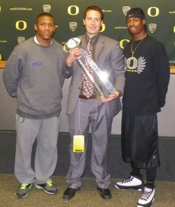 LaMichael James and Cliff Harris