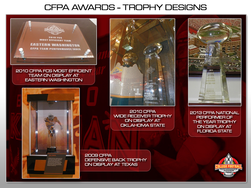 Trophy Designs College Football Performance Awards